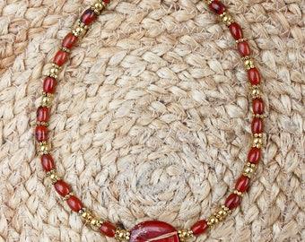 Australian Red Jasper Choker Necklace