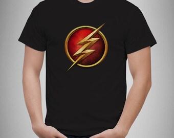 The Flash Logo 3D Tshirt Sheldon Superhero Super Hero Comic Book Geek Mens New T-Shirt