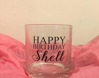 Personalised 'Happy Birthday' Whiskey Glass