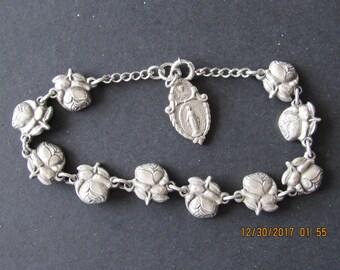 Rose Bracelet, vintage, religious