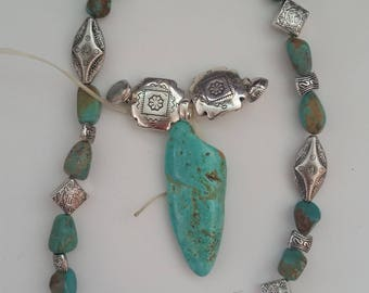 Turquoise Pendant / Turquoise Necklace / Turquoise Stone / Cowgirl Jewelry / Western Jewelry / Cowboy Jewelry / Native Inspired / Magnet