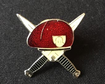 Red Beret Enamel Pin USA Military