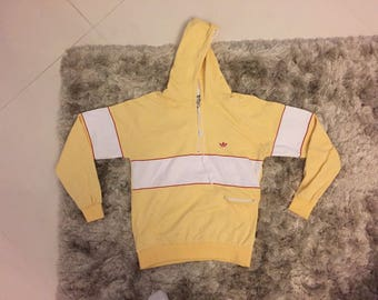 Vintage Adidas Hoodie yellow made in west germany Size M