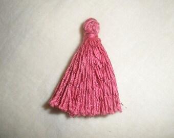 Lot 10 tassels charms / tassels pink glitter