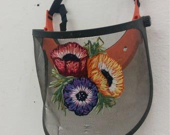 Embroidered visor