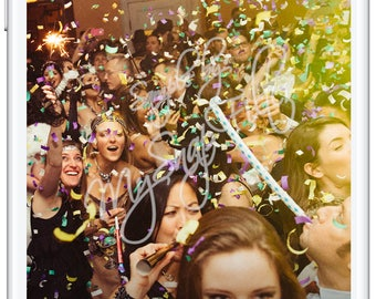 New Years Party 2018 | NYE Party Geofilter | New Years Eve Snapchat Filter | Snapchat Geofilter | Custom Snapchat | Geofilters | Gold Filter