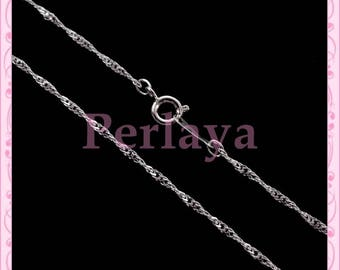 Set of 5 Silver REF297 chain Choker necklaces