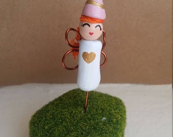 Fairy Princess Gnome Garden Planter Stake