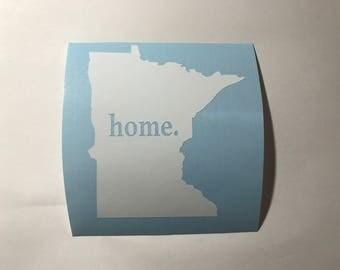 Minnesota Home Vinyl Decal