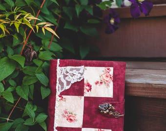 Red Rose Journal   Unlined Journal, Sketchbook, Floral, Red, Rose Themed