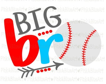 Big bro baseball SVG Clipart Cut Files Silhouette Cameo Svg for Cricut and Vinyl File cutting Digital cuts file DXF Png Pdf Eps