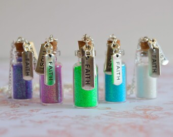 Faith Trust and Pixie Dust! * Disney Inspired * Pixie Dust Bottle Necklace