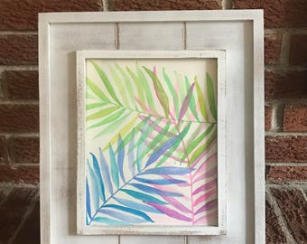 Palm Fronds 8x10 Original Watercolor