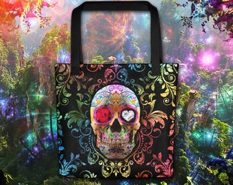 Calaca Fiesta Tote Bag - Many Eye Variations to choose from