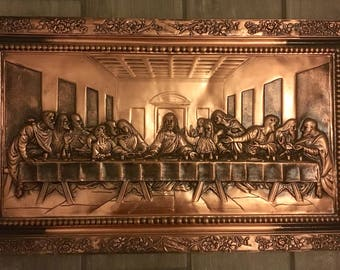 The Last Supper embossed in copper