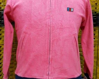 Vintage YAMAHA / pink colors / full zipper / for women / Medium size sweatshirt (D24)