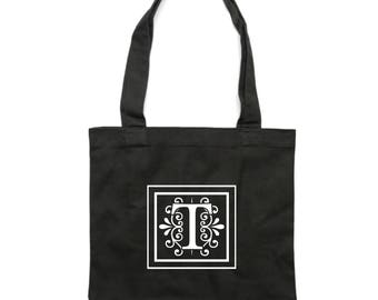 Personalised Monogram Black Tote Bag [apex]