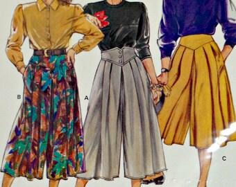 Vintage (Circa Late 80s, Early 90s) Burda 5022 Women's Pantskirt, Sewing Pattern, Culottes, Split Skirt, Gaucho Pants