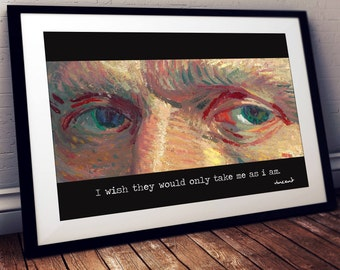 Van Gogh quote print / Van gogh print / Quote print / Inspirational quote / Motivational quote / Quote art / Home decor / Wall decor