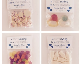 Wedding Favours. Sweets. Confectionary. A sweet ending to a new beginning