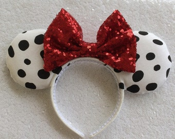 101 Dalmatians Minnie Ears, Minnie Ears, Mickey Ears, 101 Dalmatians Mickey Ears,