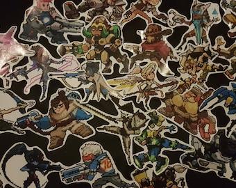 Overwatch Sprays - Pixel Stickers