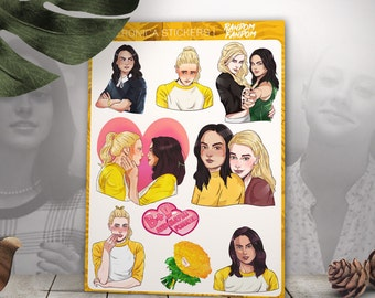 Riverdale stickers, Beronica, laptop stickers, fandom stickers, TV series, tumblr stickers, Vinyl Stickers, Cool Stickers, Sticker Pack