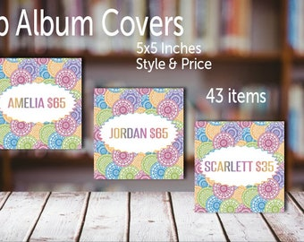 FB Album Covers, 5x5 inches 300 DPI || 43 items, Style & Price || FB Album Covers || Instant Download