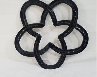 Horseshoe Flower Art Piece