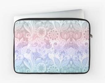 Flower Macbook Case, Macbook Pro Sleeve, Macbook Sleeve, Macbook Air, Laptop Case, Laptop Sleeve
