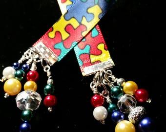 Autism Awareness Ribbon Bookmark