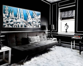 Abstract Acrylic Painting Modern Wall Decoration Large Canvas Luxury Home Decor Art
