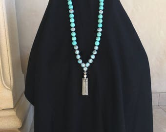 Decorative  Turquoise Necklace with Tassel
