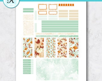 Passion Planner Stickers * Compact Sized Passion Planner * Printable Planner Stickers - PUMPKIN HARVEST - Digital Download