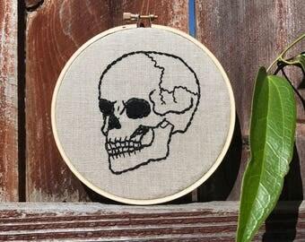 custom skeleton bone | embroidery hoop art