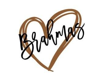 Brahmas Heart SVG