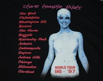 XL * vtg 90s 1996 1997 Stone Temple Pilots tiny music vatican gift shop tour t shirt * 74.106