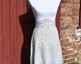 Vintage Chevron Half Apron in Soft Spring Colors!