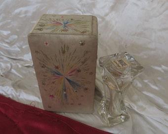 ancien flacon à parfum de collection Lancôme 1ère version, avec son coffret, old collection perfume bottle Lancôme 1st version,古い香水瓶