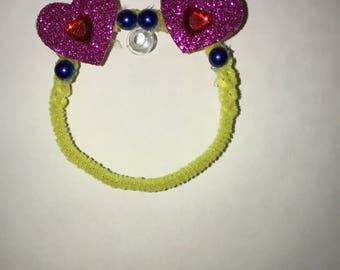 TsumPlushDaddy Original - Yellow with Purple Heart ears