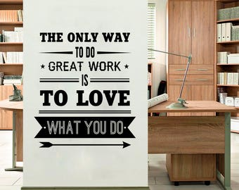 Great Work   Wall Sticker, Office Wall Decal, Decor For Office, Removable  Vinyl