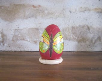 Collection of painted wood egg