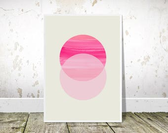 Pink and Grey, Abstract Circles, Printable art, Geometric print, Nordic Print, Scandinavian Style,Glam Wall Art,Scandi Minimalist,Scandi art