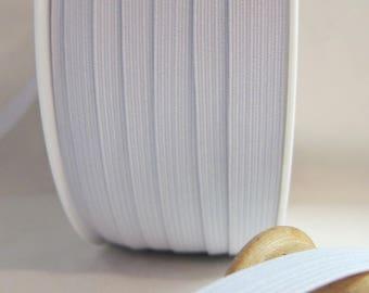 16 white braid elastic gum 11 mm sold per meter