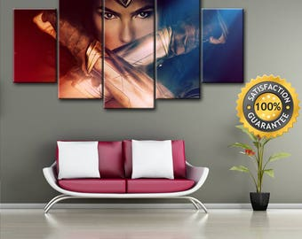 Wonder Woman Wall Art wonder woman print wonder woman poster wall art home decor