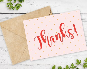 Polka Dot Thank You Card | Printable