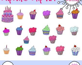 Hand Drawn Cupcake Clip Art
