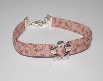 Pink flower Liberty bracelet and patterns