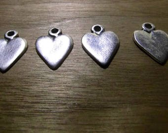 4 charms 20mm heart charm