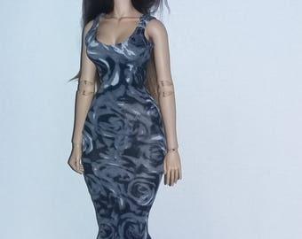 Long dress  for  raccoondoll,iplehouse fid,dollshe fashion size,msd size bjd